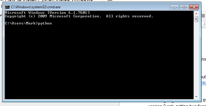 Commad Prompt Windows